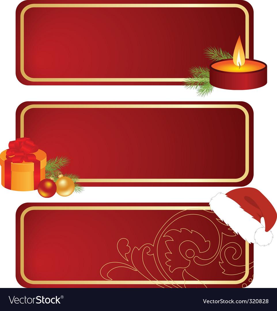 Three Christmas tablets vector image