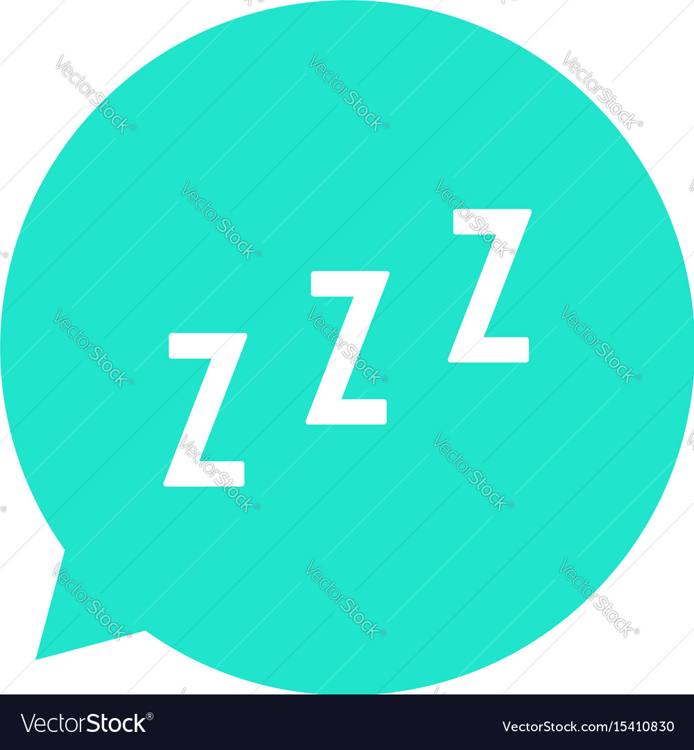 Snoring sign in green speech bubble vector image