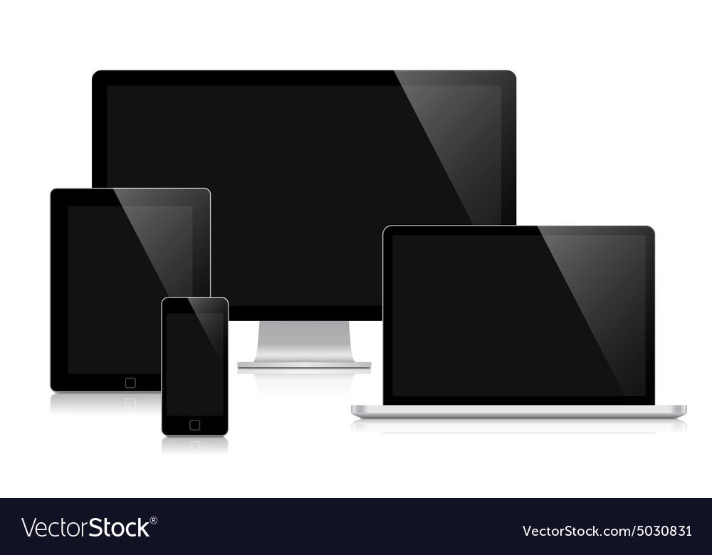 Ilustration for responsive web design vector image