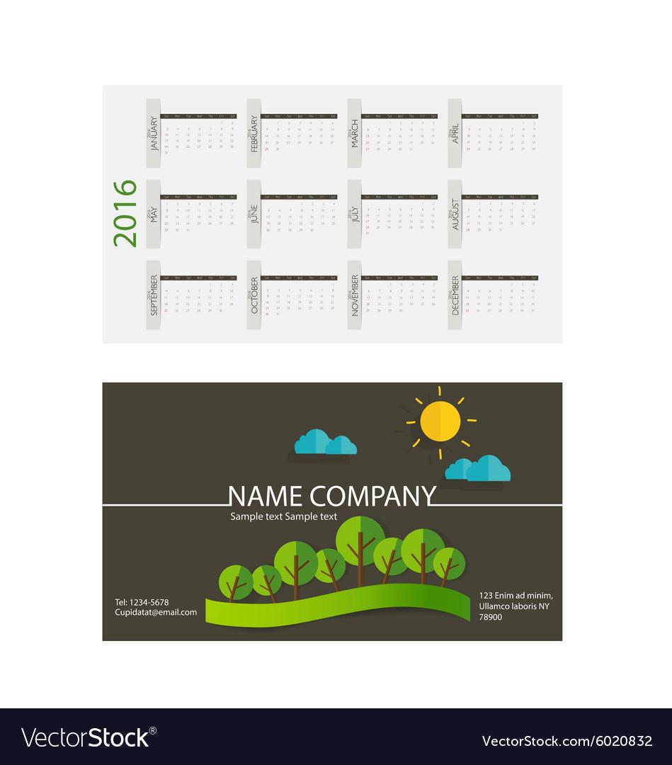 Card calendar template 2016 28 images 2016 calendar template card calendar template 2016 by 2016 calendar modern business card template with vector image flashek Choice Image