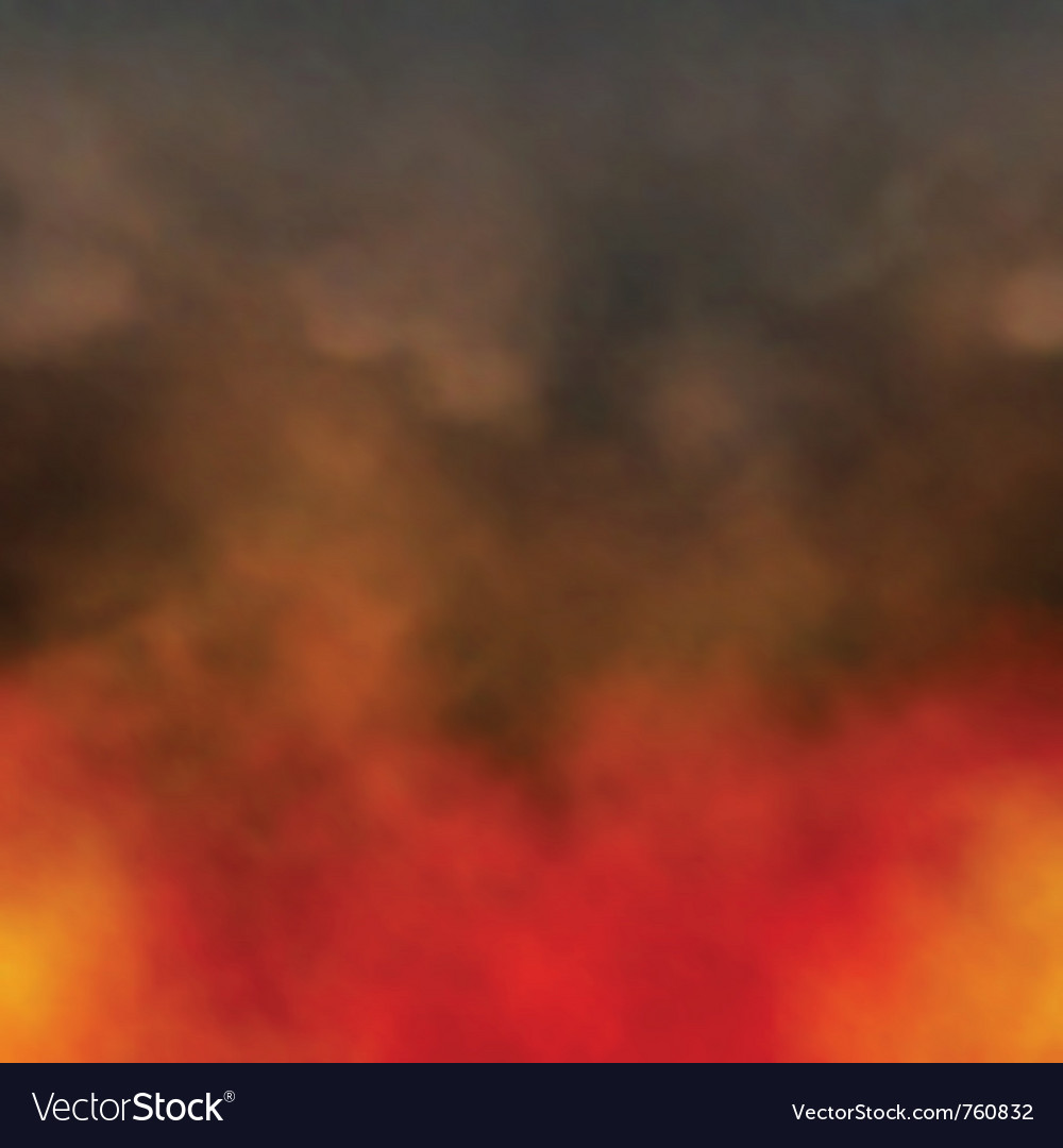 Fire and smoke vector image
