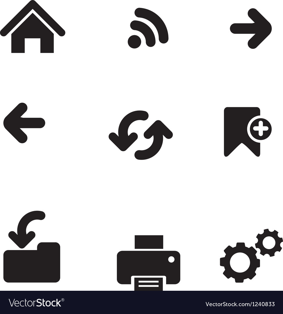 Navigation icons basic vector image