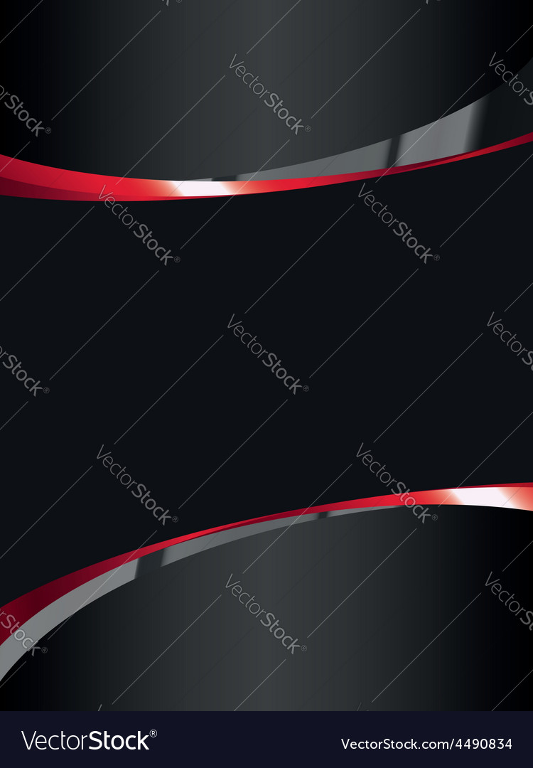 Black background with glossy elements vector image