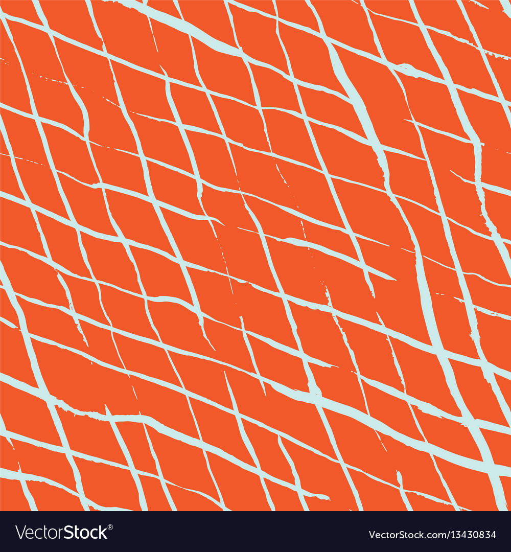 Hand drawn doodle rhombus seamless pattern vector image