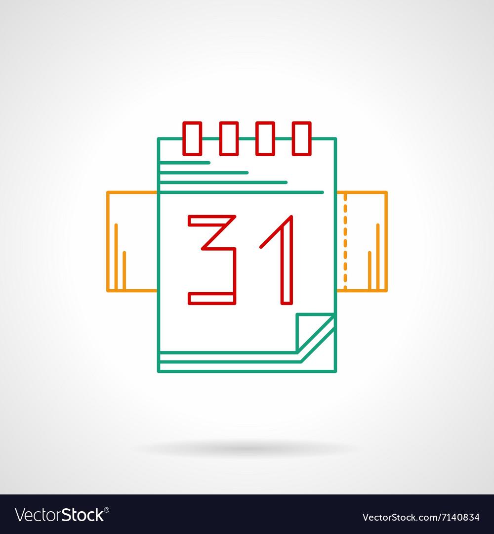 Organizer thin color line icon vector image