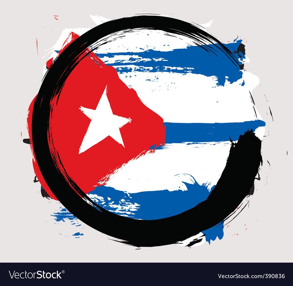 Cuba flag vector image