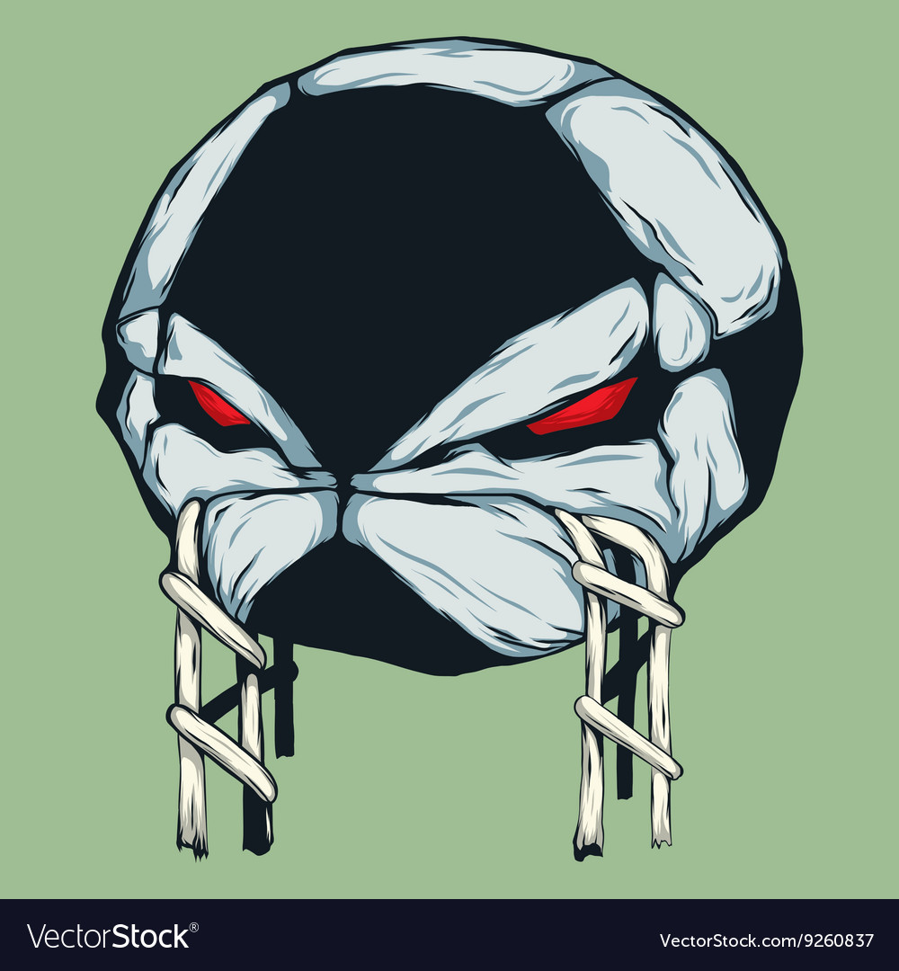Angry Ball vector image