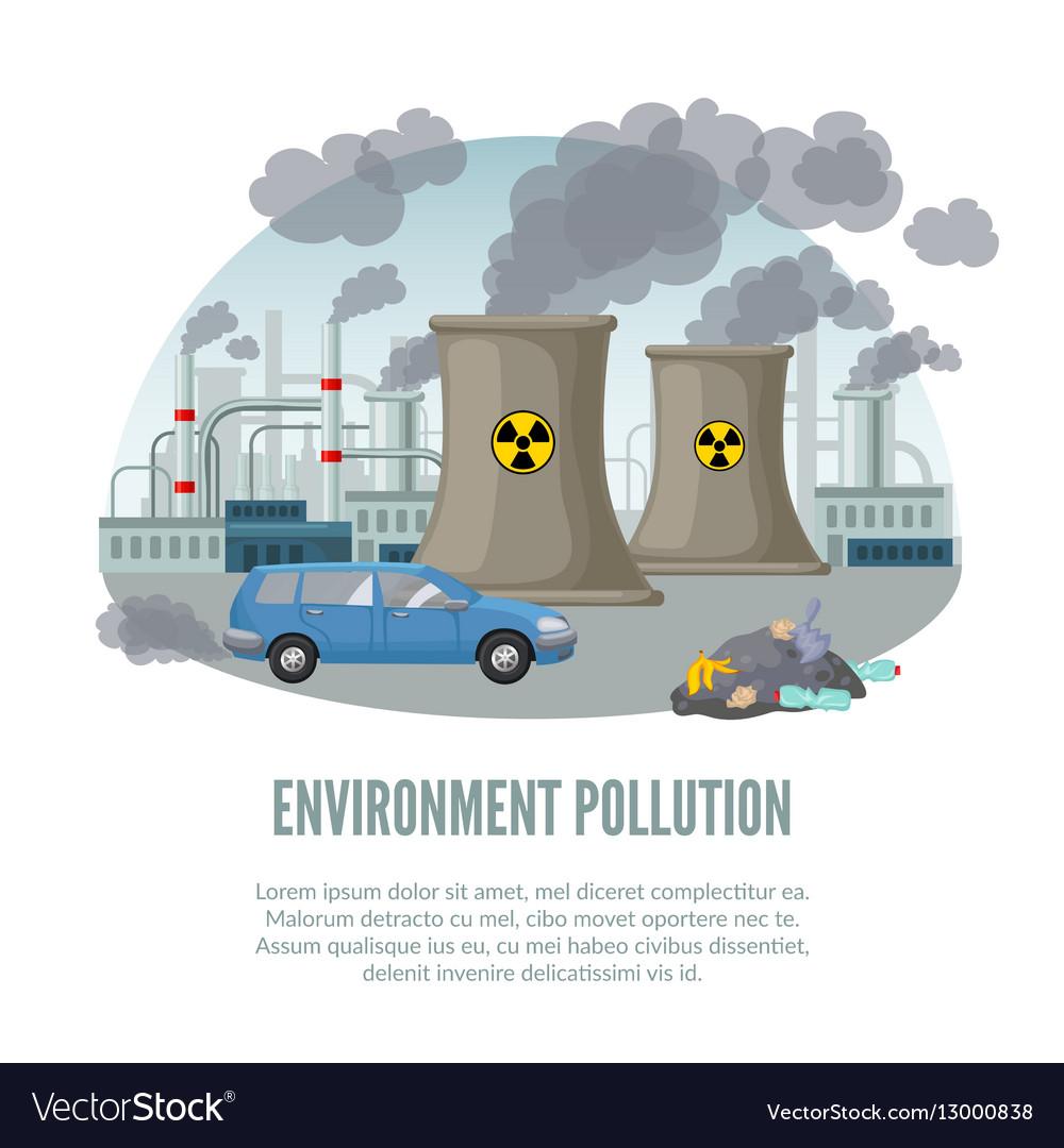 Cartoon environmental pollution template vector image cartoon environmental pollution template vector image sciox Gallery