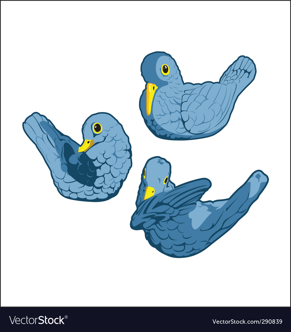 Bluebirds vector image