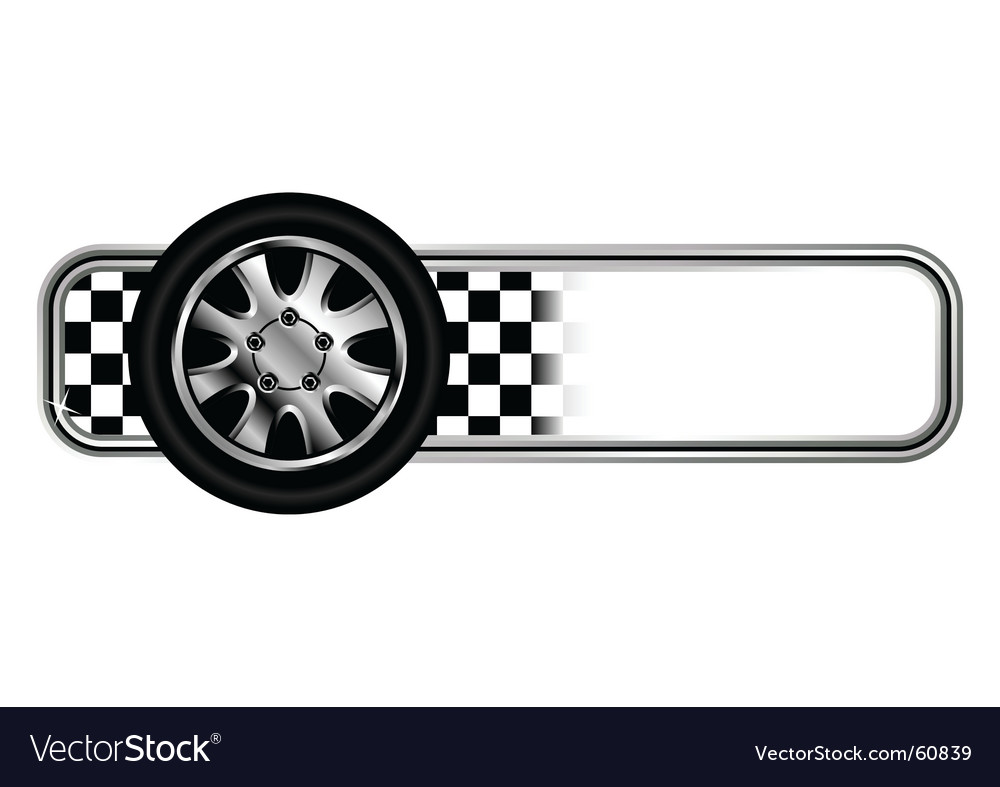 Race badges with tyre vector image