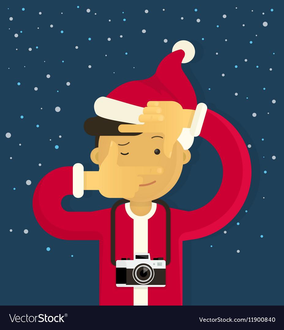 Christmas creative photographer vector image