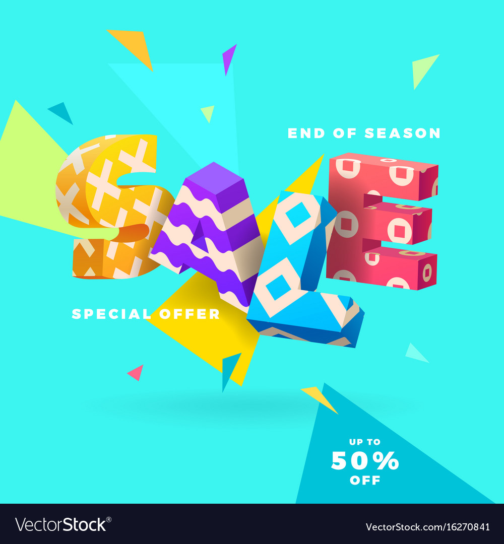 End of season sale sign vector image