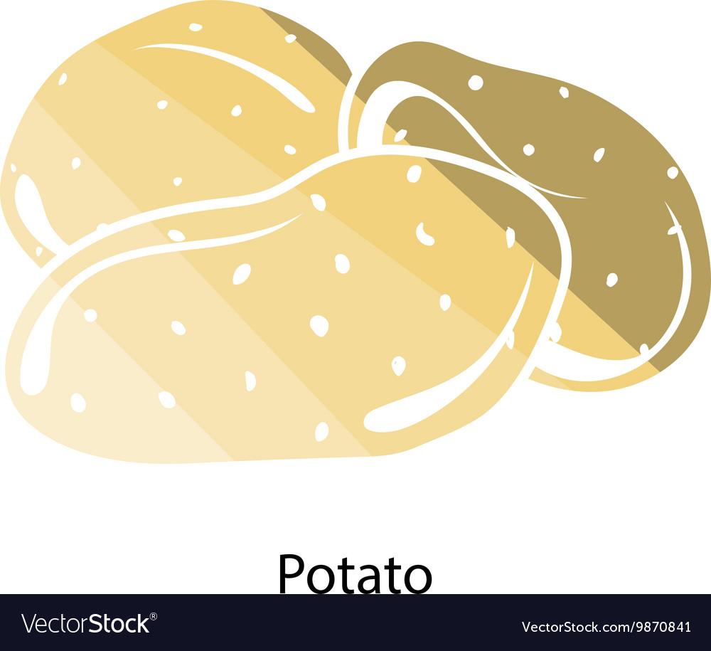 Potato icon vector image