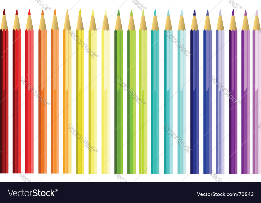 Set of color pencils Vector Image