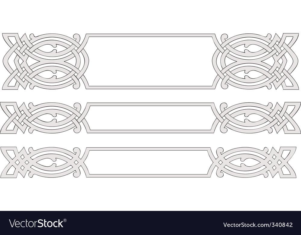 Celtic arnanent vector image
