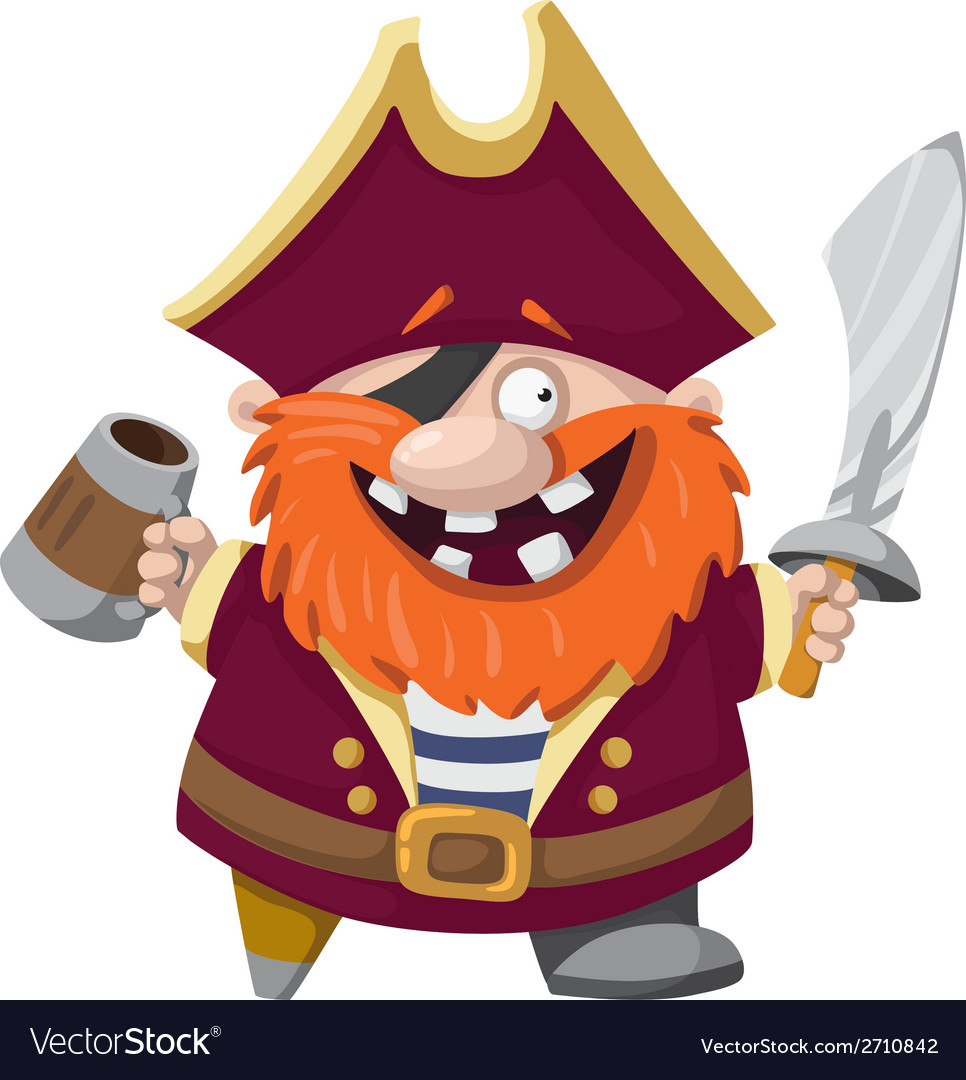 Happy pirate vector image