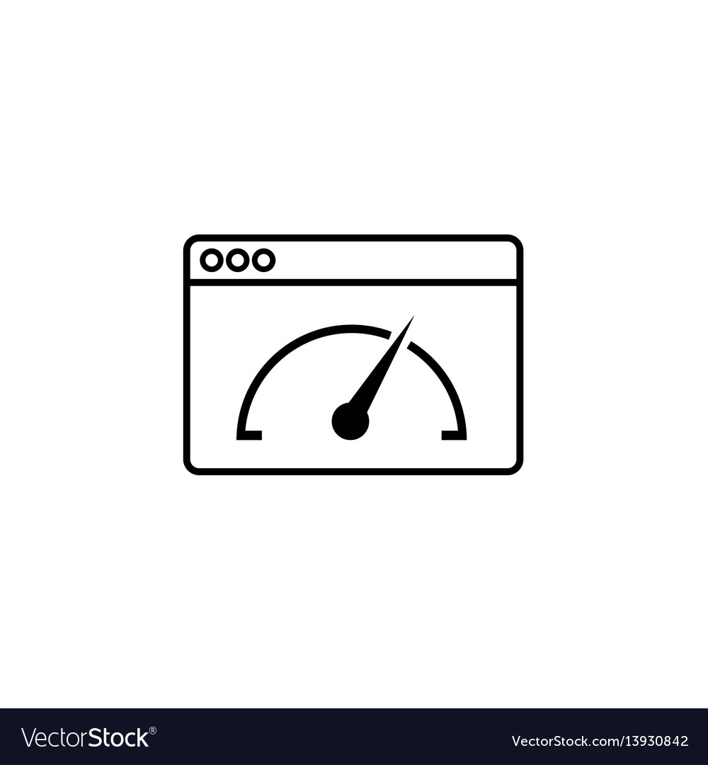 Page speed line icon vector image