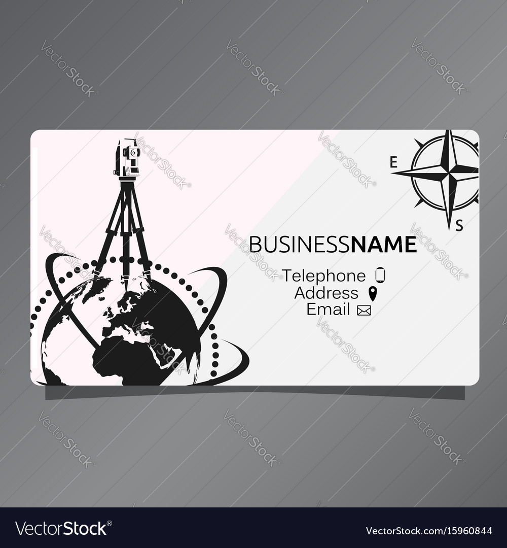 Business card of geodesy and cartography vector image
