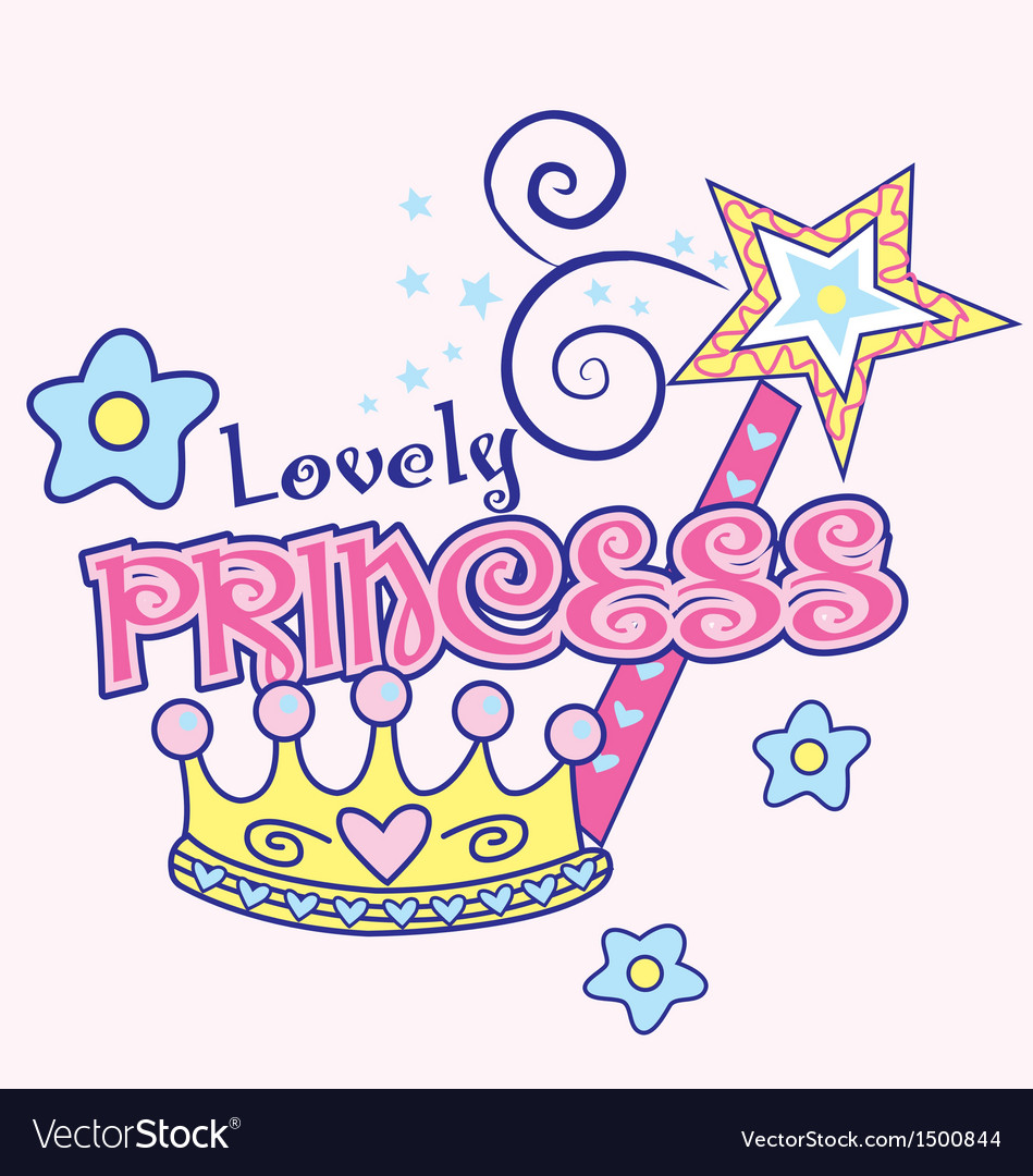 Lovely princess vector image
