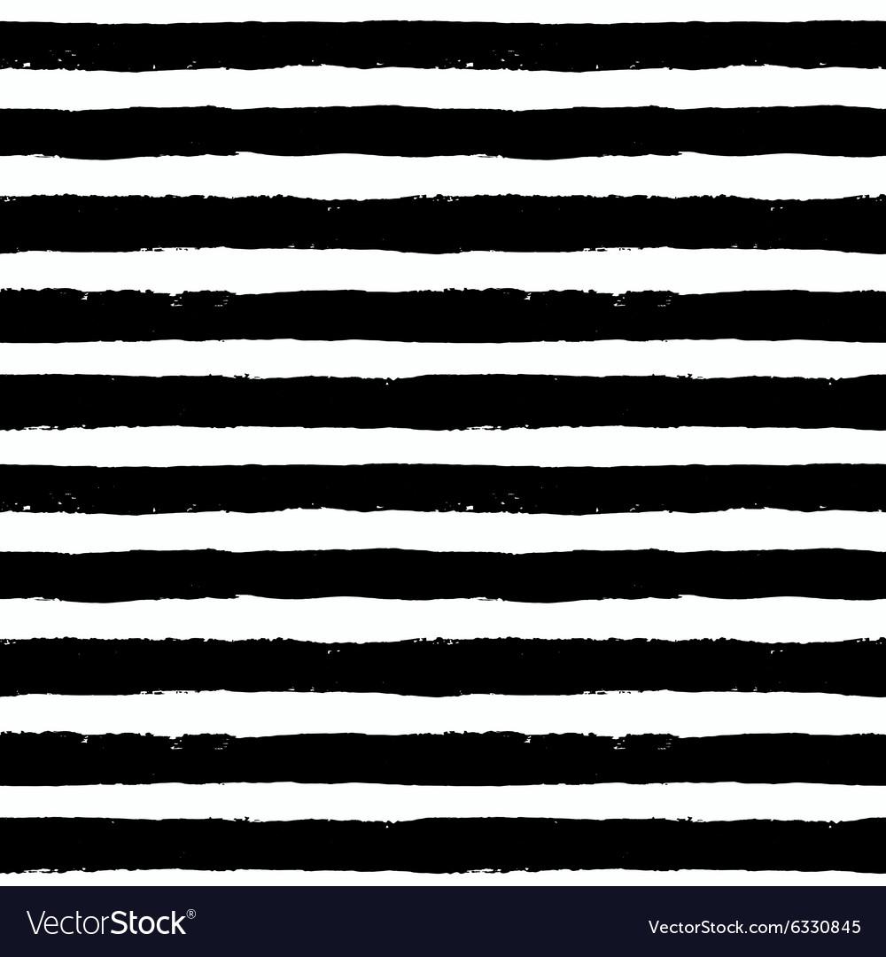 Brush Strokes Black White Pattern vector image