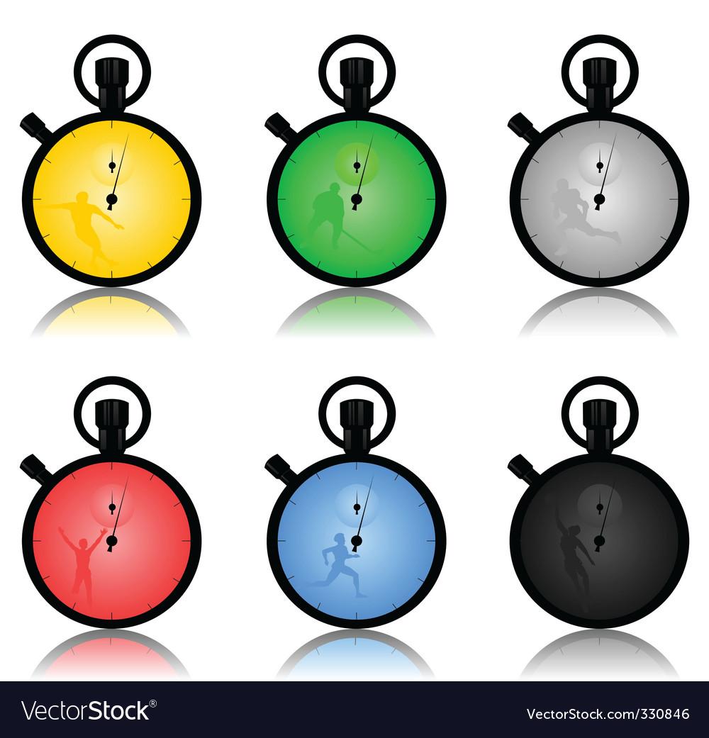 Stop watch2 vector image