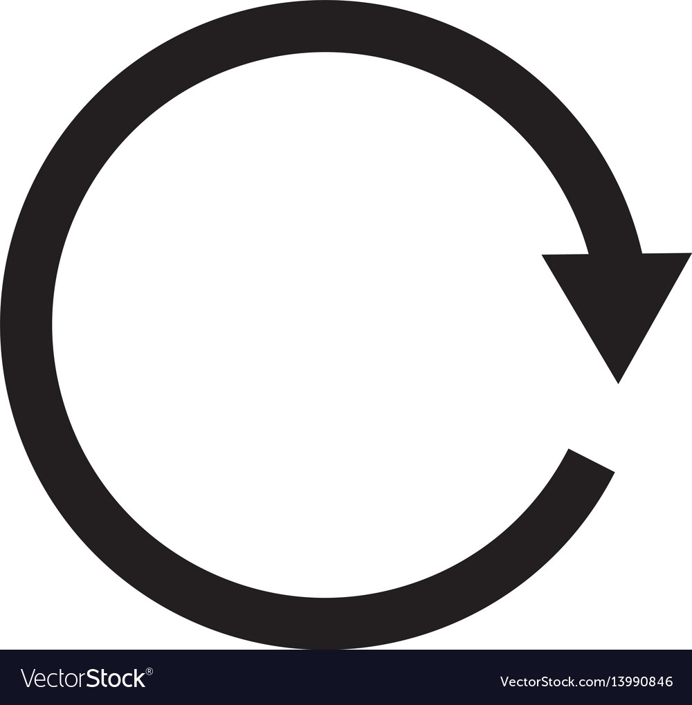 Replay icon vector image