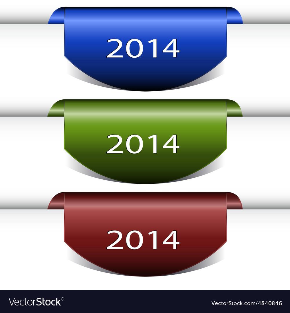 Set color tag labels vector image