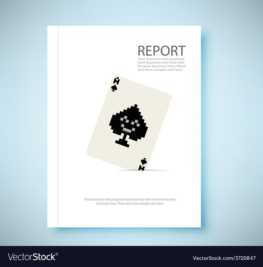 Report A pair 8 bit playing card isolated vector image
