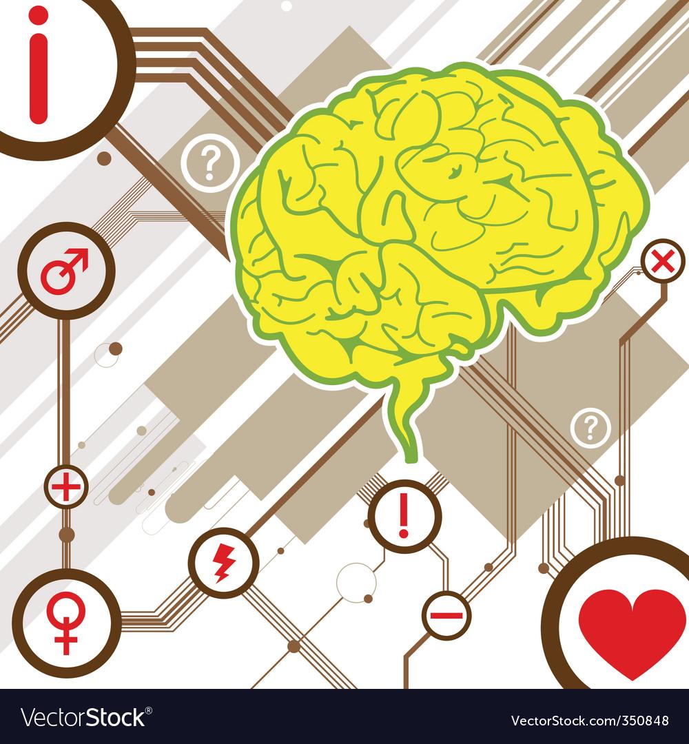 Abstract brain illustration vector image