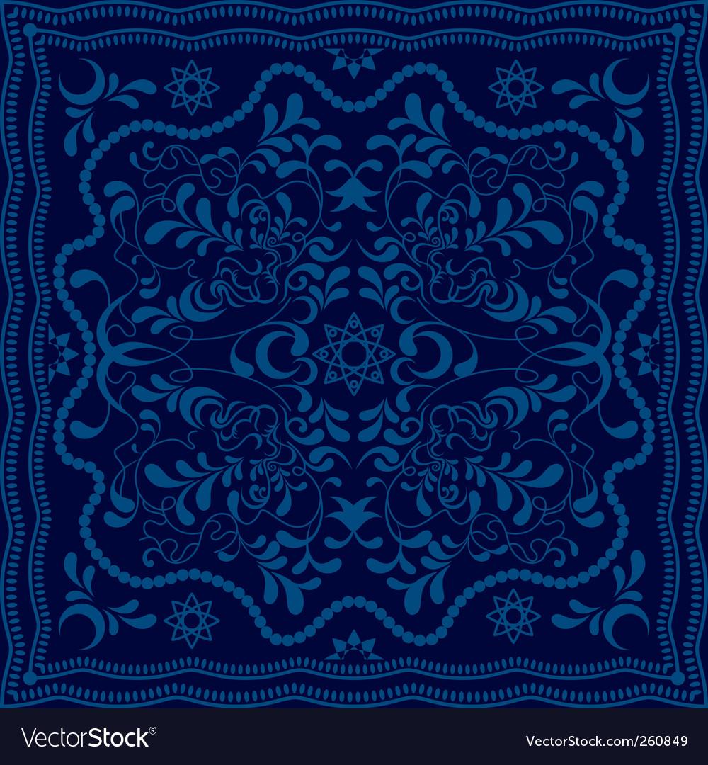 Abstract blue floral backgroundoun Vector Image