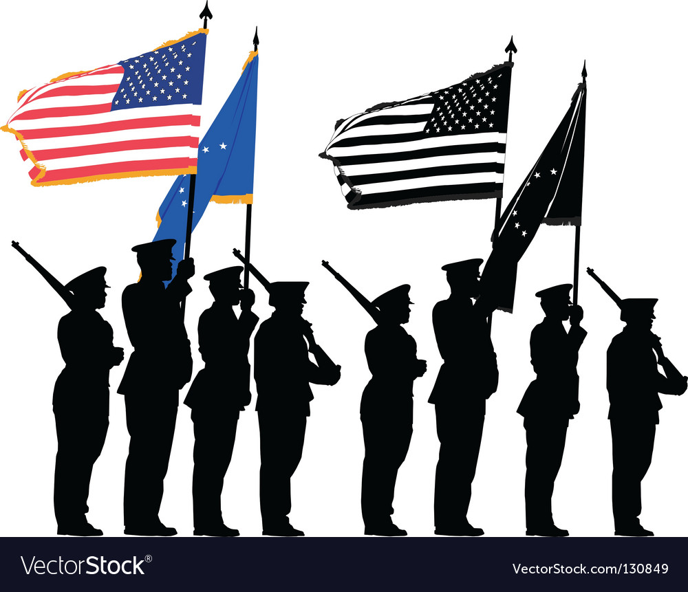 Honor guard vector image