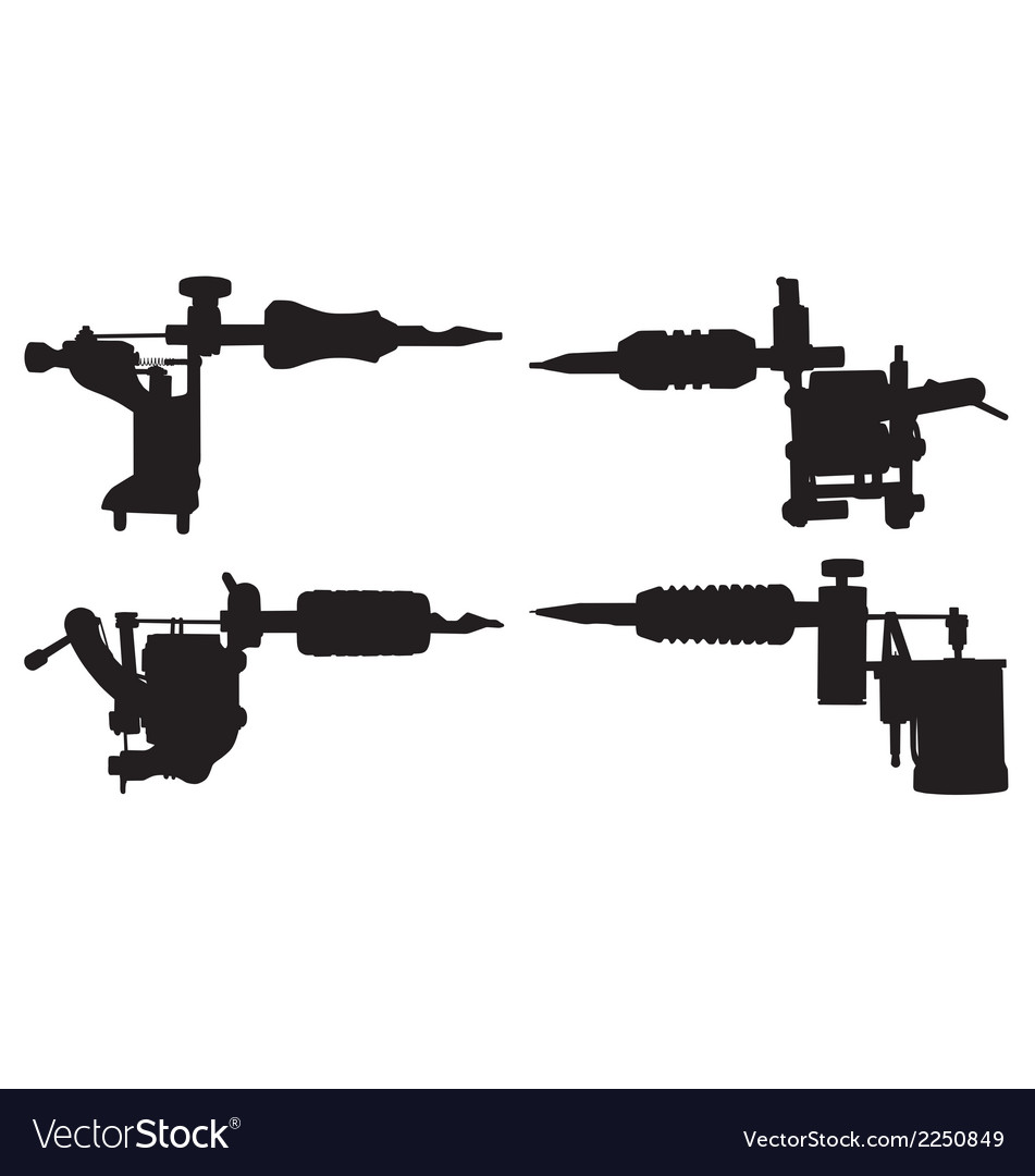 Tattoo guns vector image