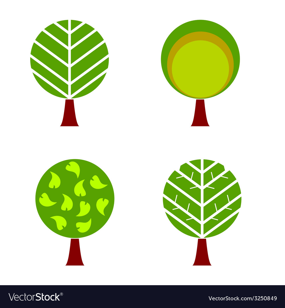 Tree color Royalty Free Vector Image - VectorStock