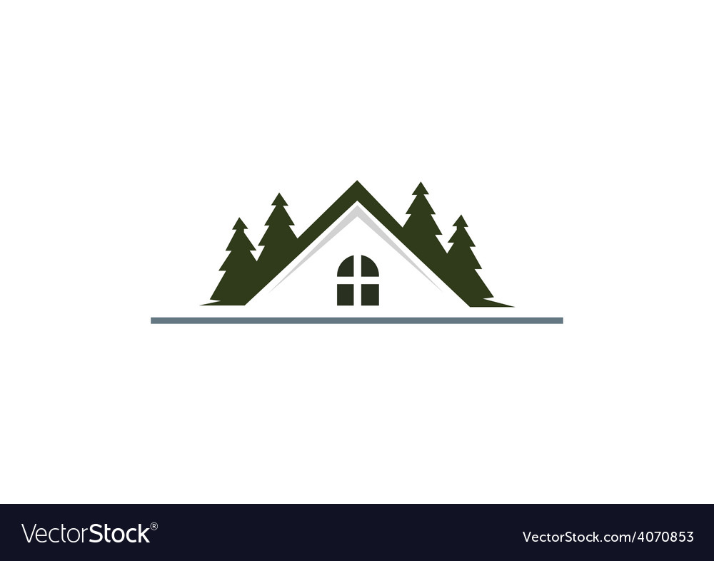 House Mountain Realty Resort Logo Vector Image