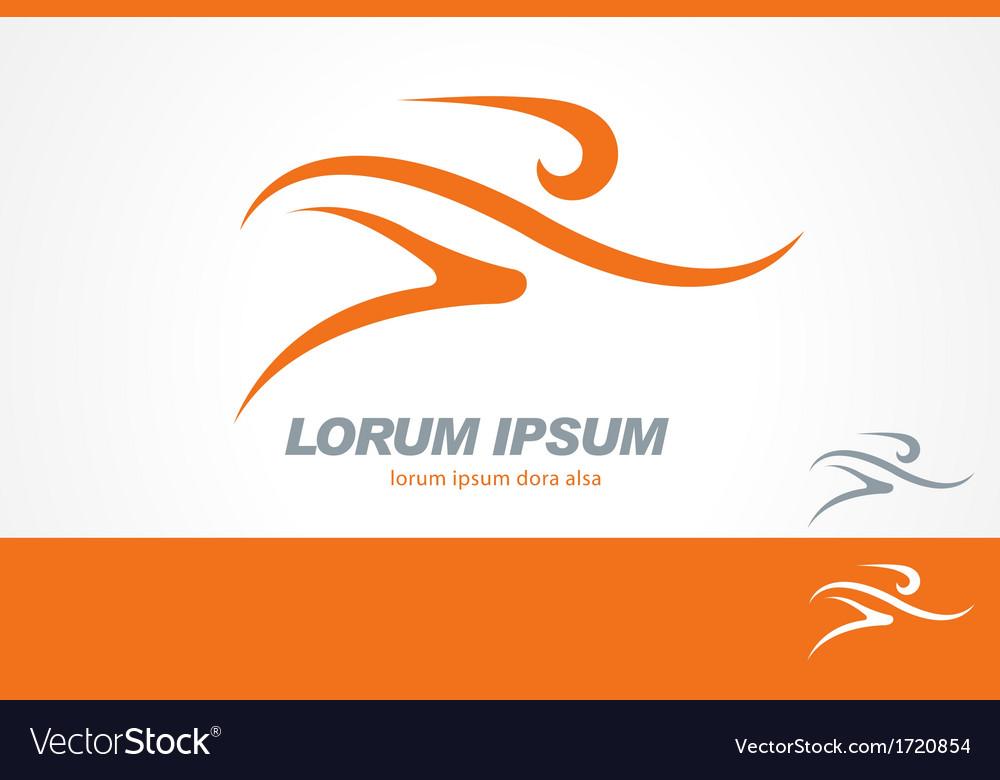 Running Gym Sport Man Logo Template vector image