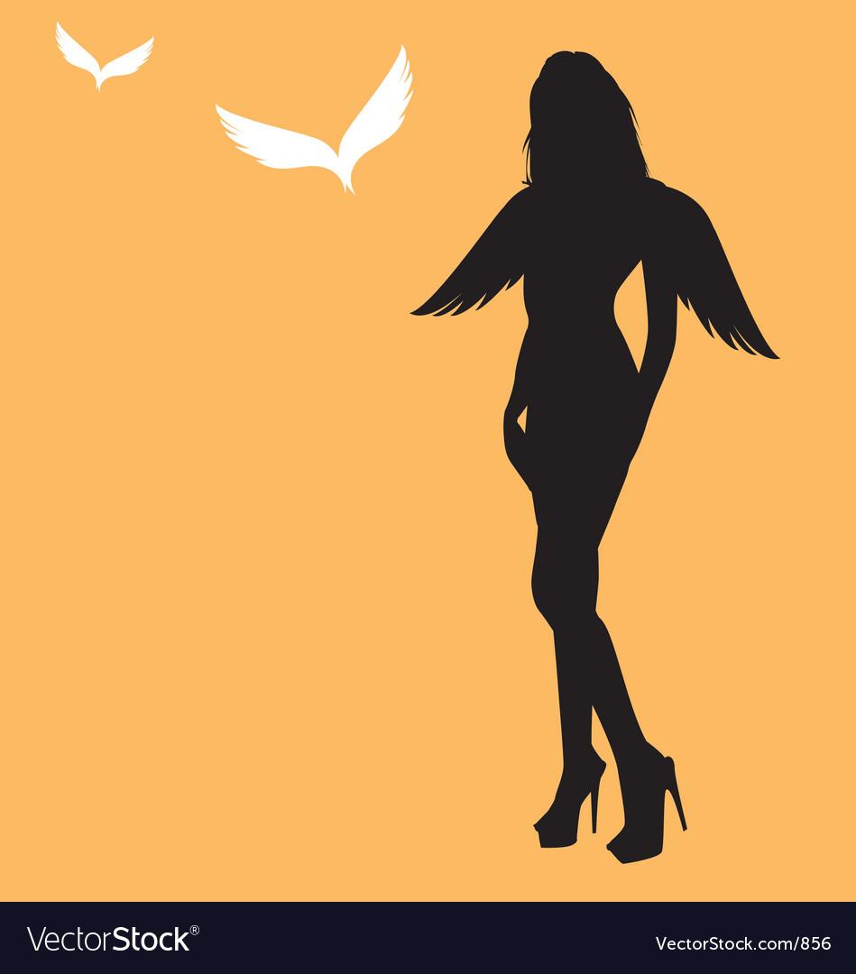 Sexy angel vector image