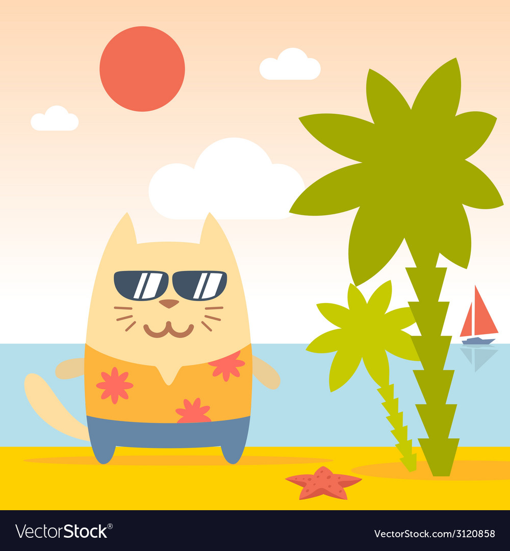 Character tourist wearing sunglasses and a shirt vector image
