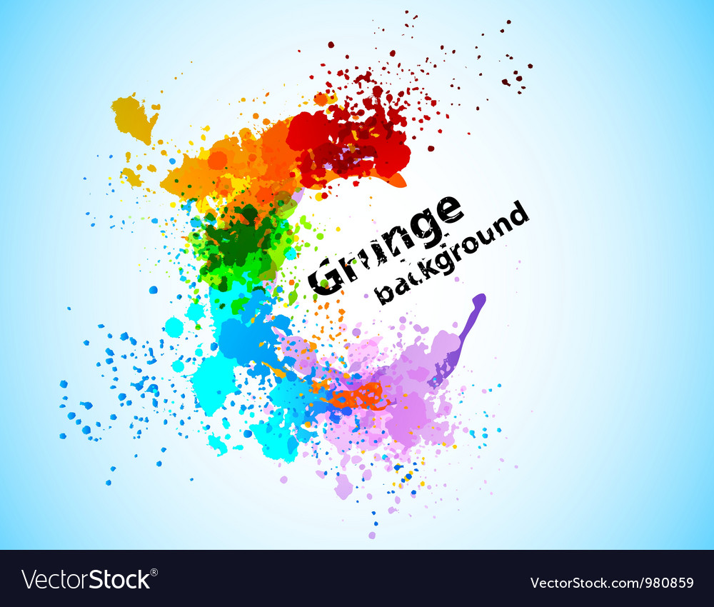 Abstract colorful grunge background vector image