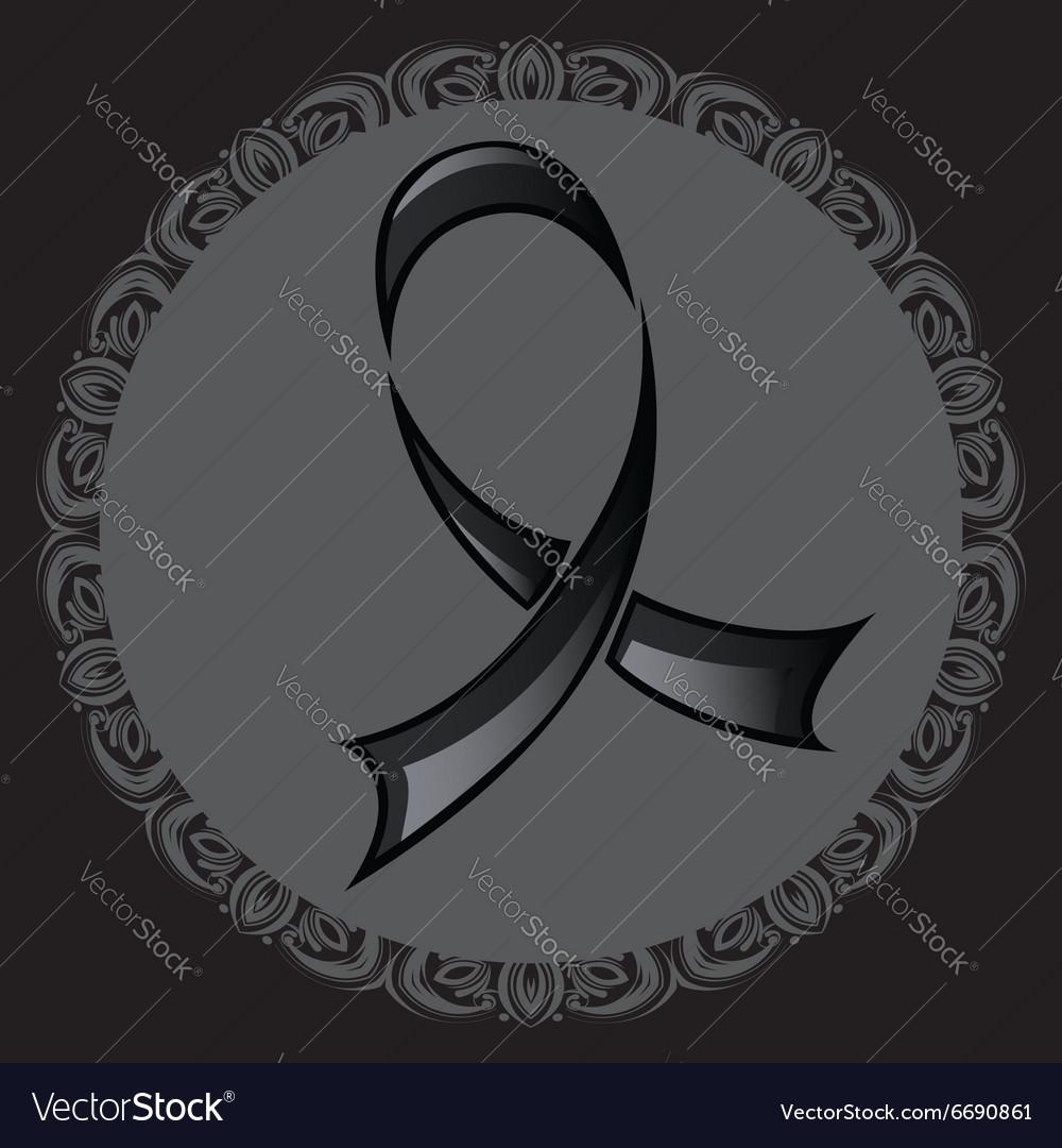 Black Ribbon Background2 vector image