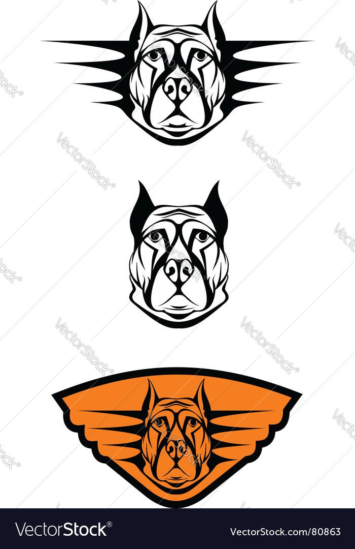 Guard dog symbols vector image