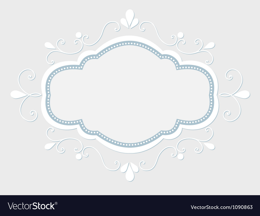 Vintage frame with floral elements vector image