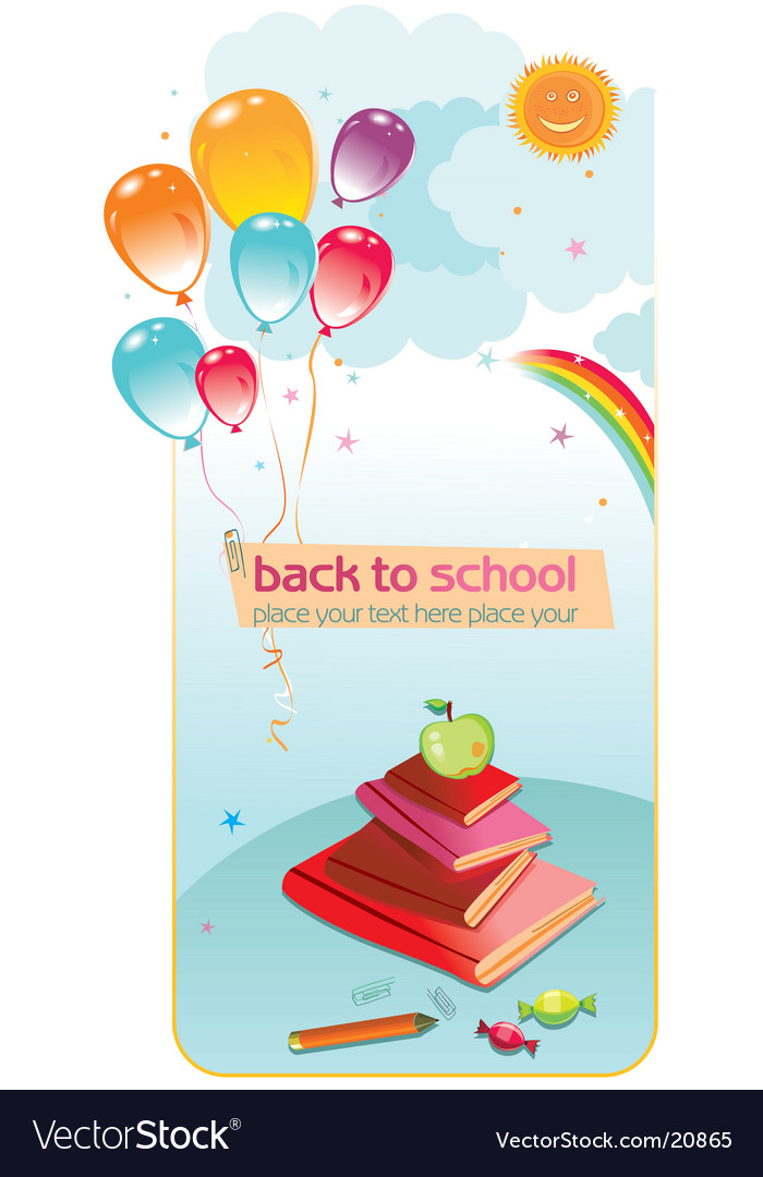 Back to school balloons vector image