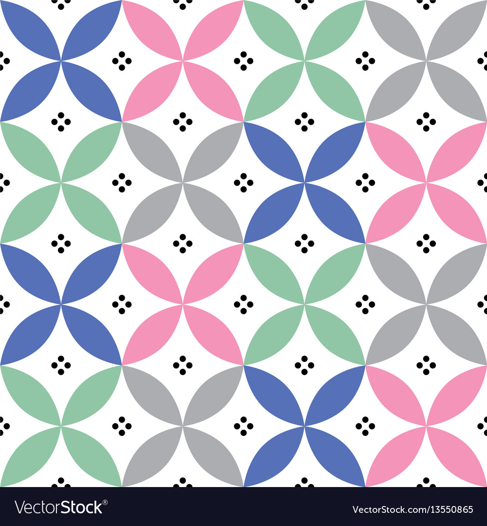 Geometric seamless pattern in pastel colours vector image