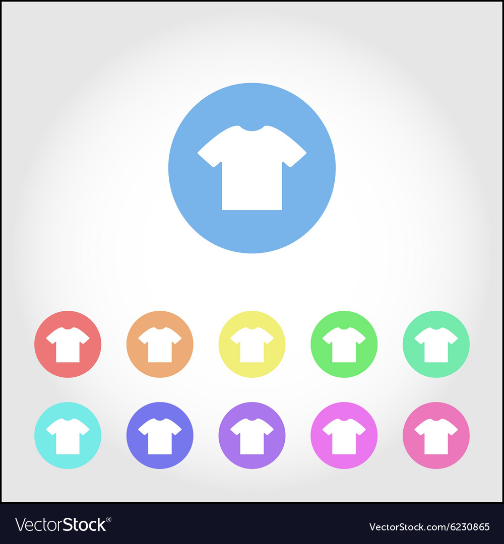 T-shirt round icon set vector image