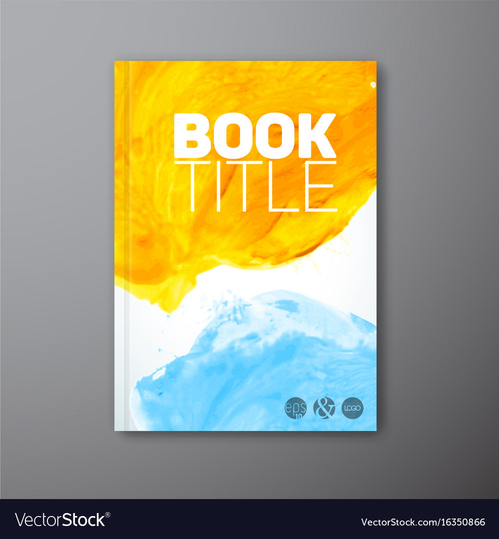 Book Cover Watercolor Mixing : Abstract book watercolor cover template royalty free vector