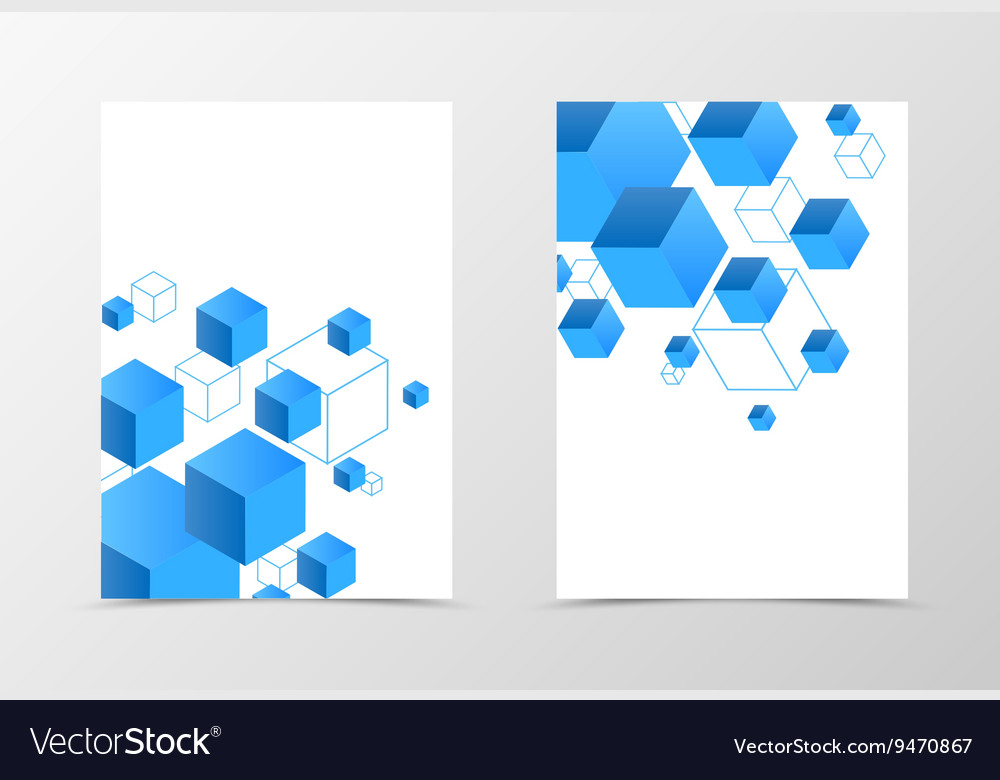 Geometric Flyer Template Design Royalty Free Vector Image