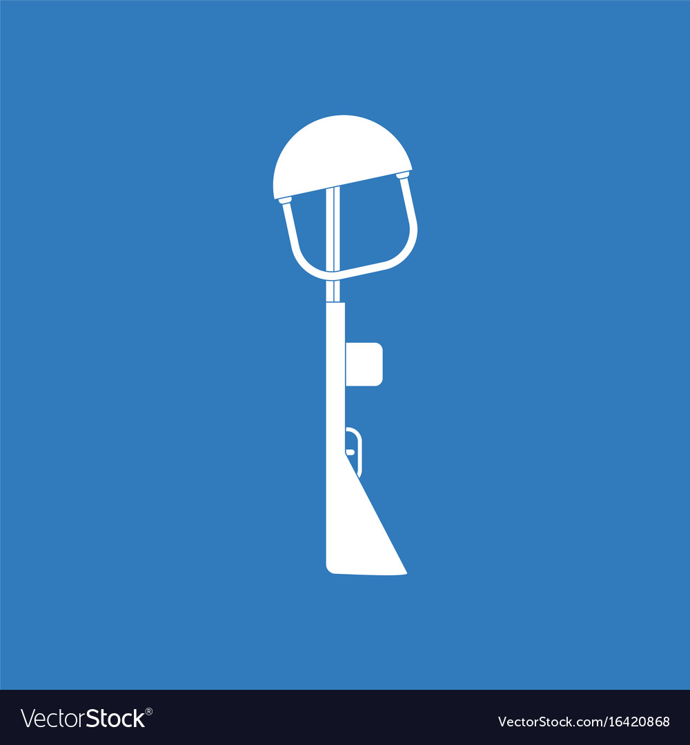 Icon military rifle and helmet