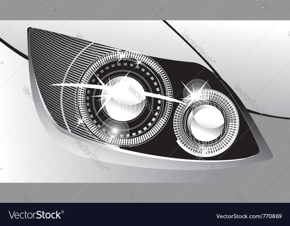 Modern luminescent vector image