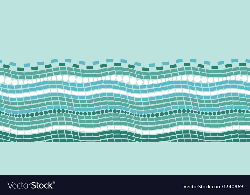 Abstract ice chrystals texture horizontal seamless vector image