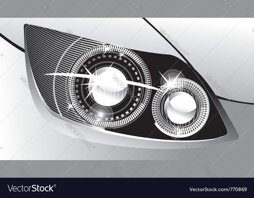 Modern luminescent vector image